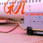 Manutenção de air starter unit para aeronave